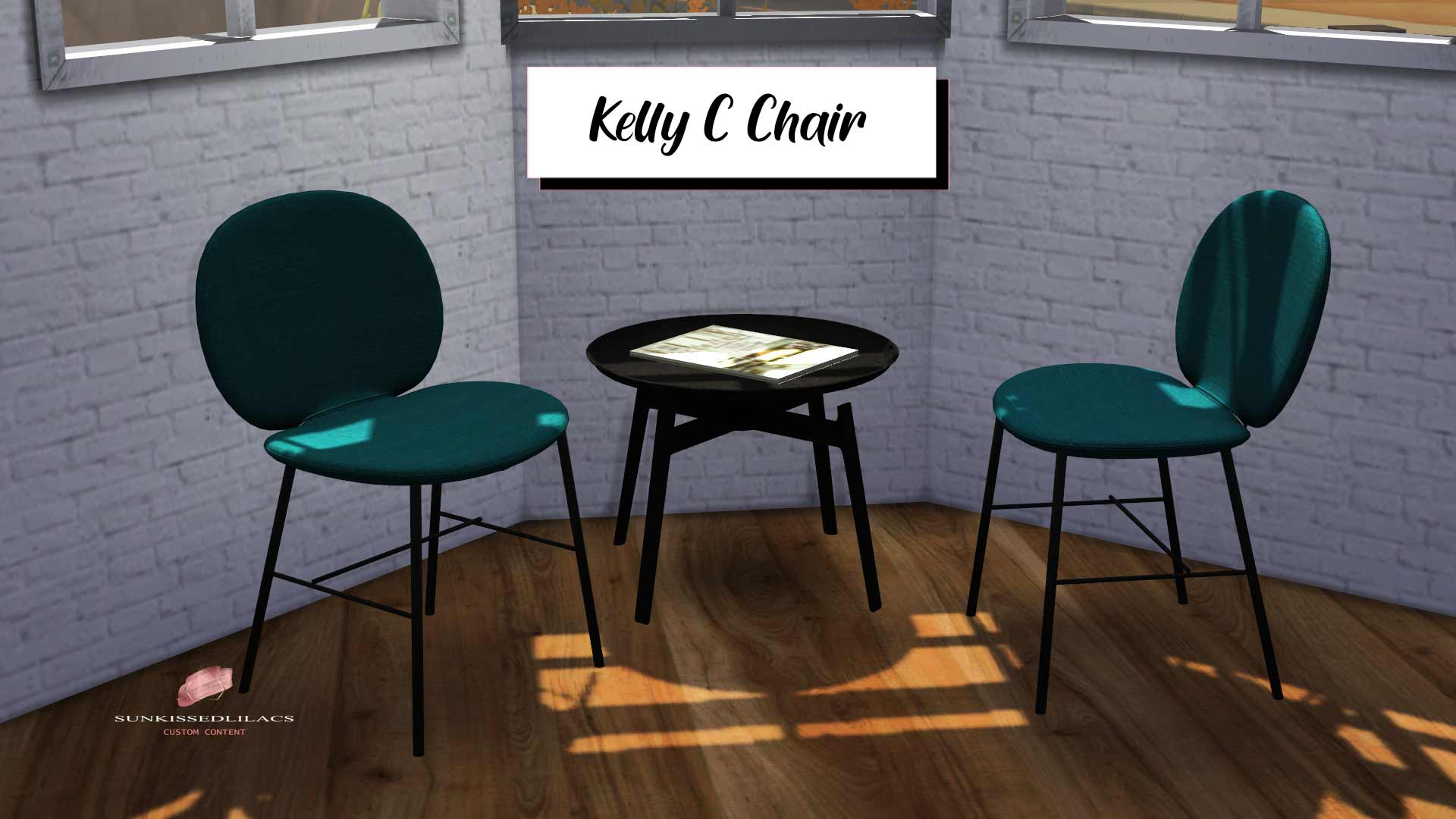 Kelly C Chair, high quality sims 4 cc, sunkissedlilacs, free sims 4 furniture, sims 4 custom content,