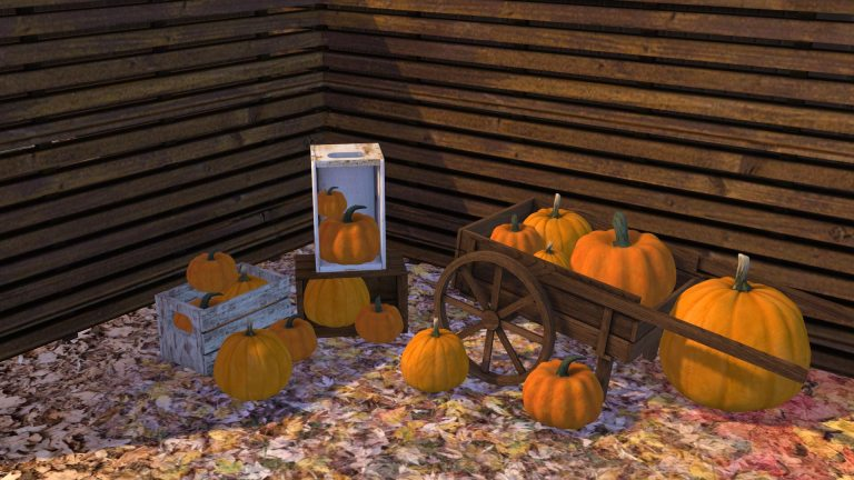 Pumpkin Patch Decor, high quality sims 4 cc, sunkissedlilacs, free sims 4 furniture, sims 4 custom content,