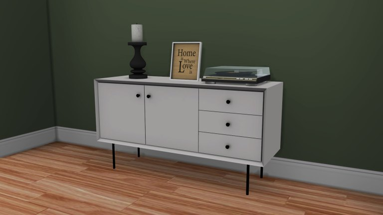 Simplistic console, high quality sims 4 cc, sunkissedlilacs, free sims 4 furniture, sims 4 custom content,