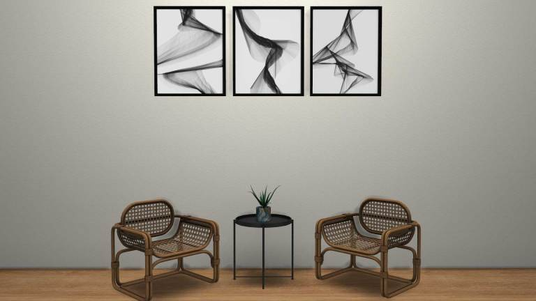 Abstract Wall Art, high quality sims 4 cc, sunkissedlilacs, free sims 4 furniture, sims 4 custom content,