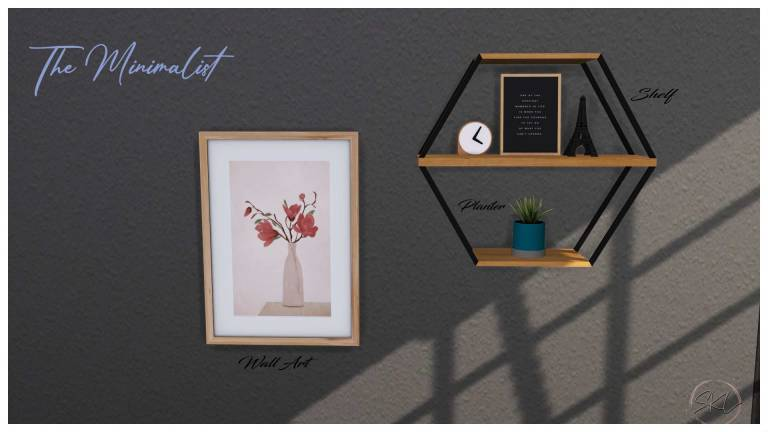 The Minimalist Collection, high quality sims 4 cc, sunkissedlilacs, free sims 4 furniture, sims 4 custom content,