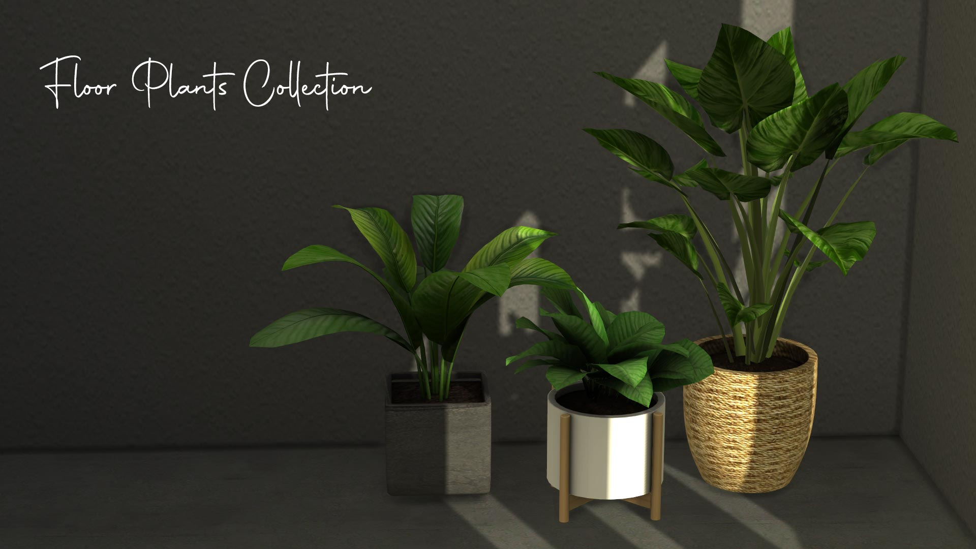 Floor Plants Collection, high quality sims 4 cc, sunkissedlilacs, free sims 4 furniture, sims 4 custom content,