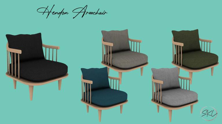 Hendon Armchair, high quality sims 4 cc, sunkissedlilacs, free sims 4 furniture, sims 4 custom content,