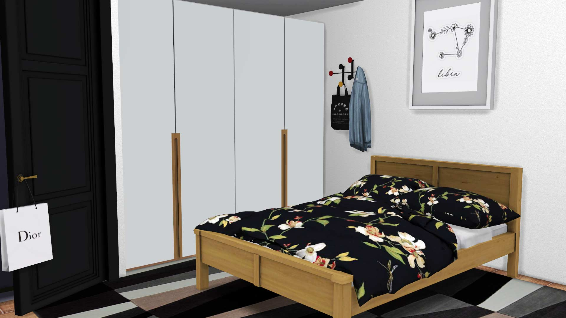 Modern Wardrobe, high quality sims 4 cc, sunkissedlilacs, free sims 4 furniture, sims 4 custom content,
