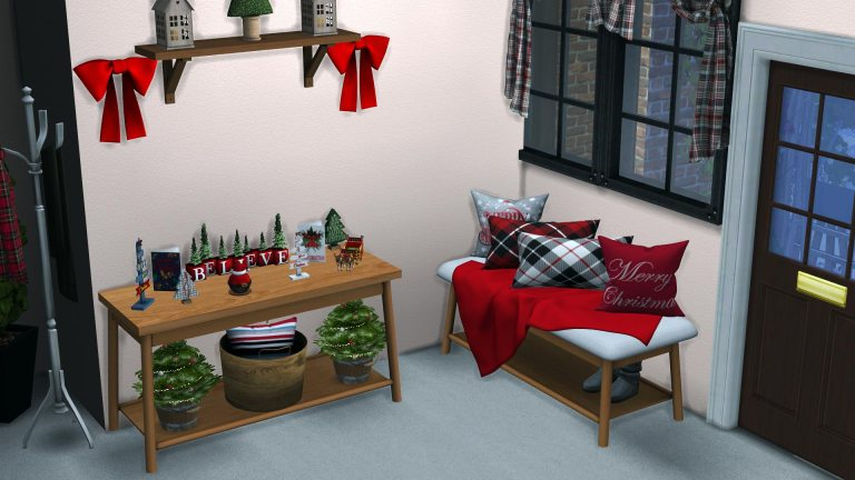 Holiday Entryway, high quality sims 4 cc, sunkissedlilacs, free sims 4 furniture, sims 4 custom content,