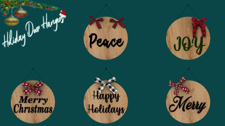 Holiday Door Hangers, high quality sims 4 cc, sunkissedlilacs, free sims 4 furniture, sims 4 custom content,