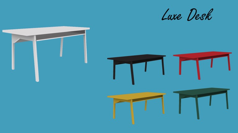 Luxe Desk, high quality sims 4 cc, sunkissedlilacs, free sims 4 furniture, sims 4 custom content,