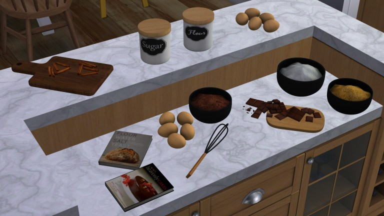 Let's Bake Set, high quality sims 4 cc, sunkissedlilacs, free sims 4 furniture, sims 4 custom content,