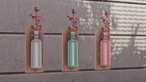 DIY Bottle Wall Vase, high quality sims 4 cc, sunkissedlilacs, free sims 4 furniture, sims 4 custom content,