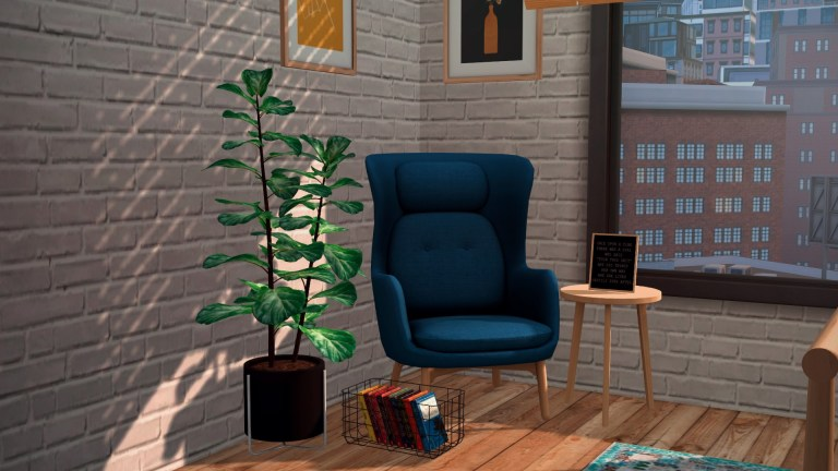 Reading Nook, high quality sims 4 cc, sunkissedlilacs, free sims 4 furniture, sims 4 custom content,
