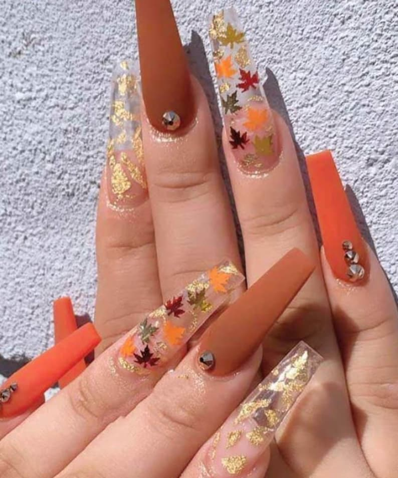 coffin acrylic nails