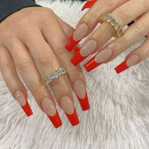 Red French Tip