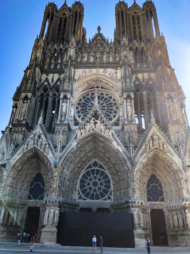 reims cathedral and market