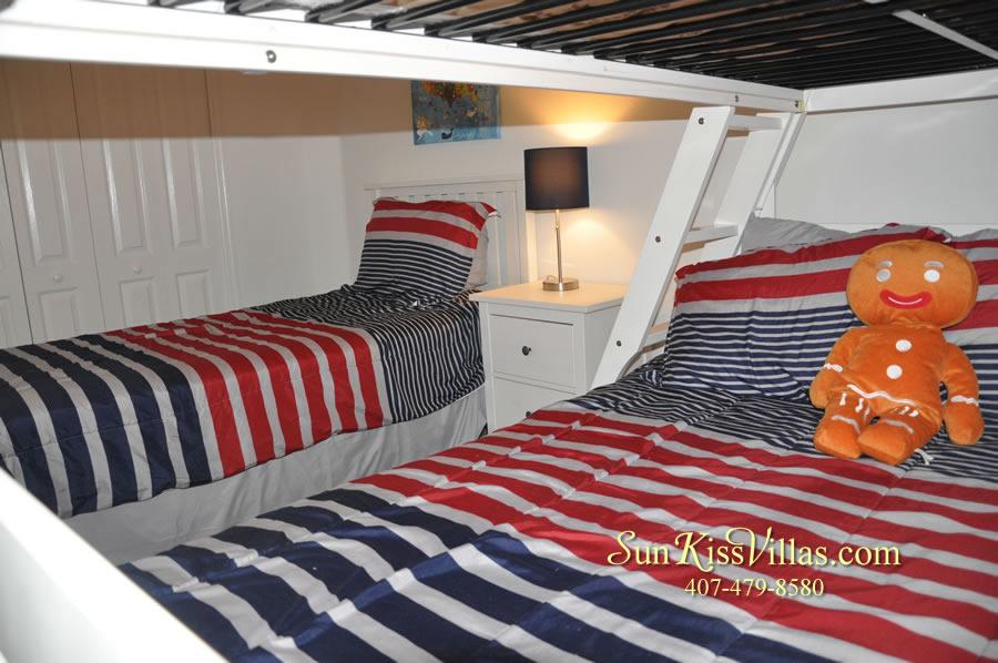 Orlando Vacation Rental Home Near Disney - Cypress Grand - Bunk Bedroom