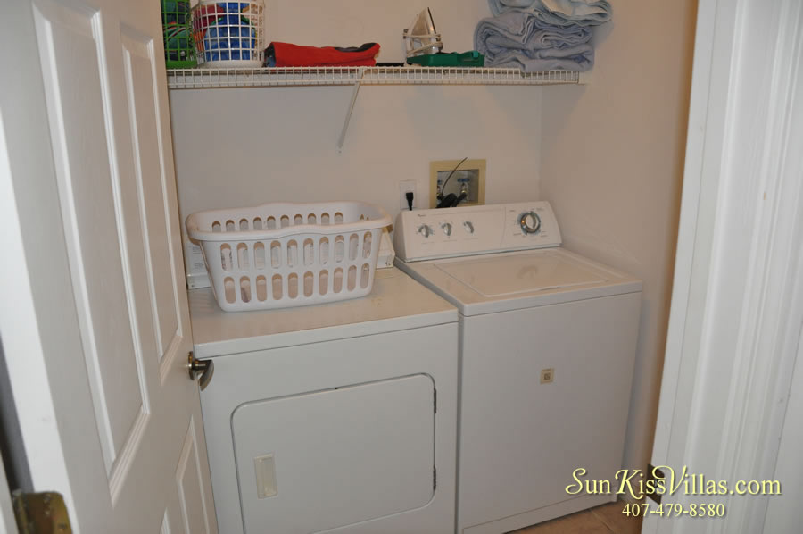 Disney Palm Vacation Home Rental - Laundry Room