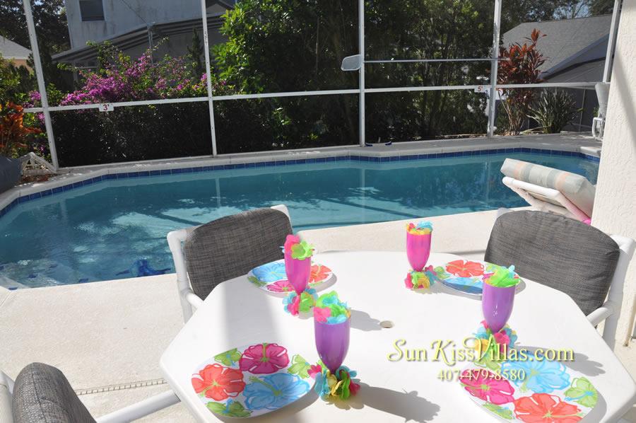 Disney Vacation Rental - Durango Palms - Pool and Covered Lanai