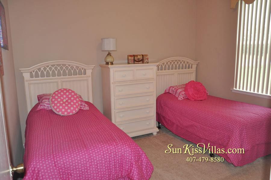 Orlando Disney Vacation Home Rental - Grand Hereon - Twin Bedroom