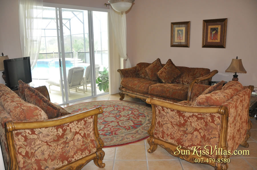 Orlando Disney Vacation Home Rental - Grand Hereon - Living Room