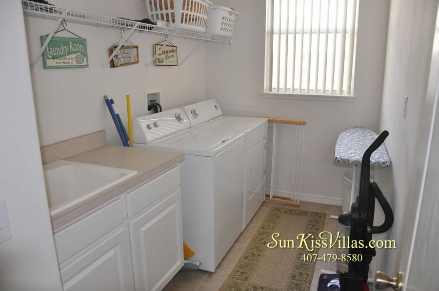Orlando Disney Vacation Rental Home - Grand Oasis - Laundry Room