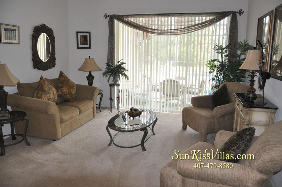 Orlando Disney Vacation Rental Home - Grand Oasis - Living Room