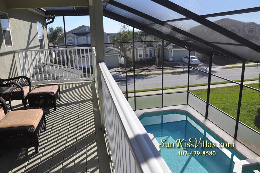 Disney Vacation Villa - Henley Park - Master Balcony and Pool
