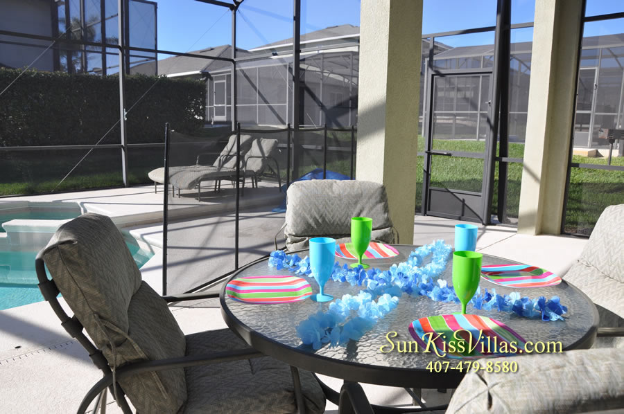 Disney Vacation Villa - Henley Park - Covered Lanai