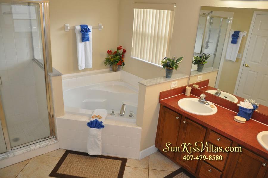 Orlando Villa Rental Near Disney - Keystone - Master Bath