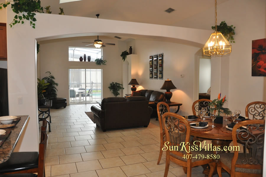 Disney Solana Vacation Rental Home - Mermaid Point - Dining and Family Rooms