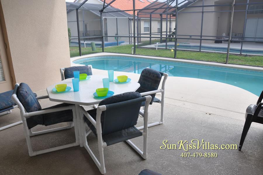 Disney Solana Vacation Rental Home - Mermaid Point - Pool and Covered Lanai