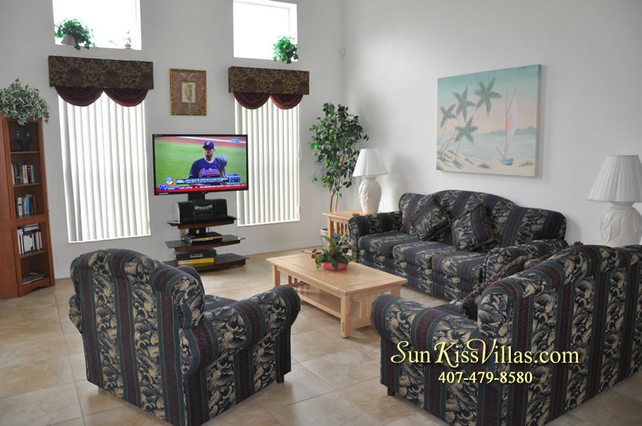 Disney Vacation Rental Home - Orange View Family Room
