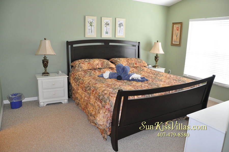 Orlando Vacation Rental - Palm Lake - Master Bedroom