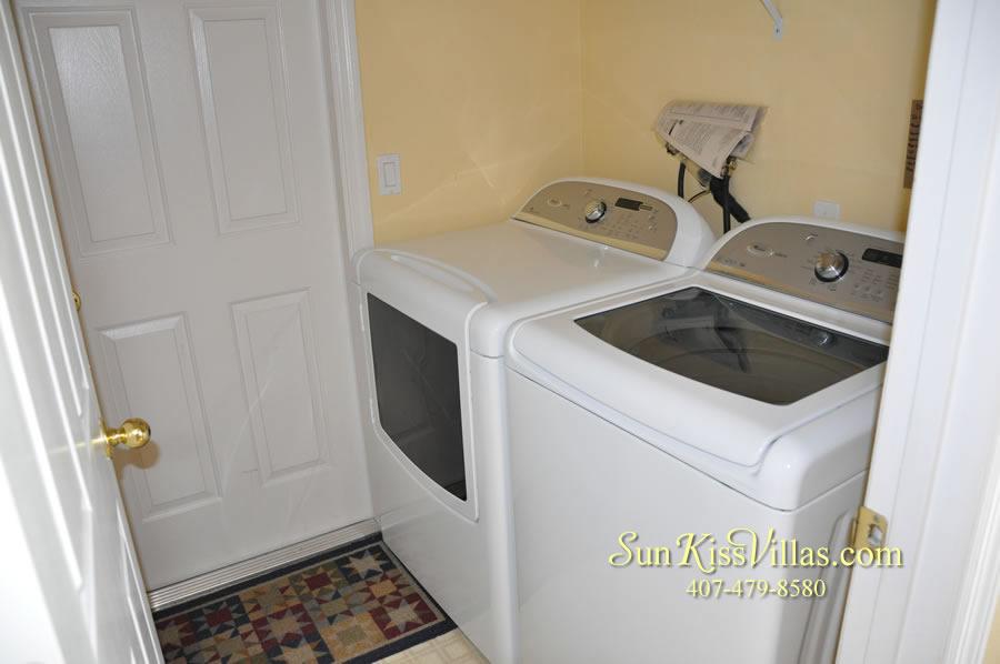 Orlando Vacation Rental - Palm Lake - Laundry Room