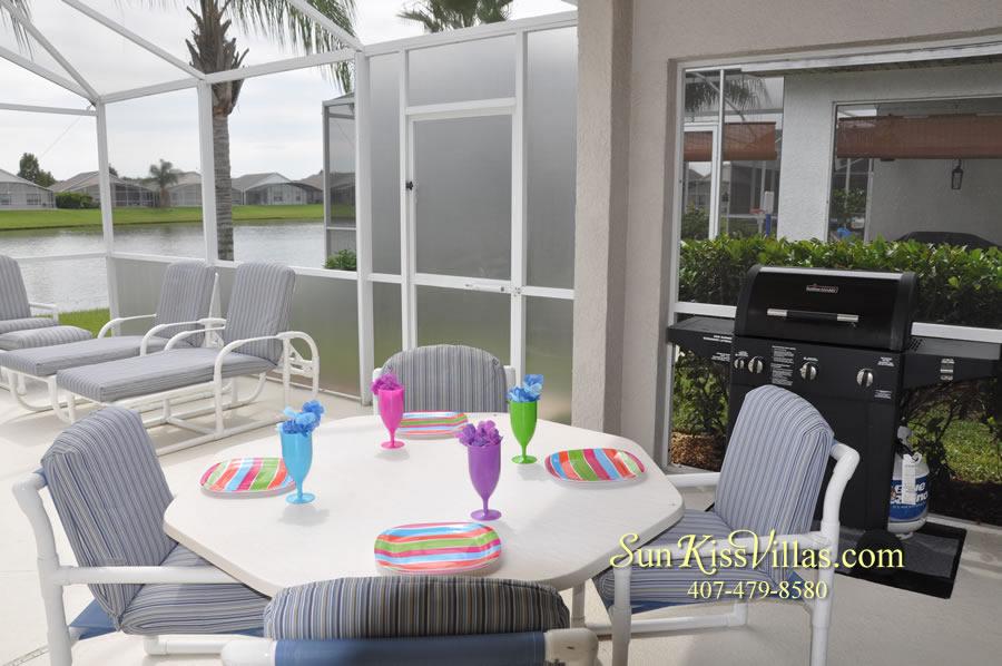 Orlando Vacation Rental - Palm Lake - Covered Lanai