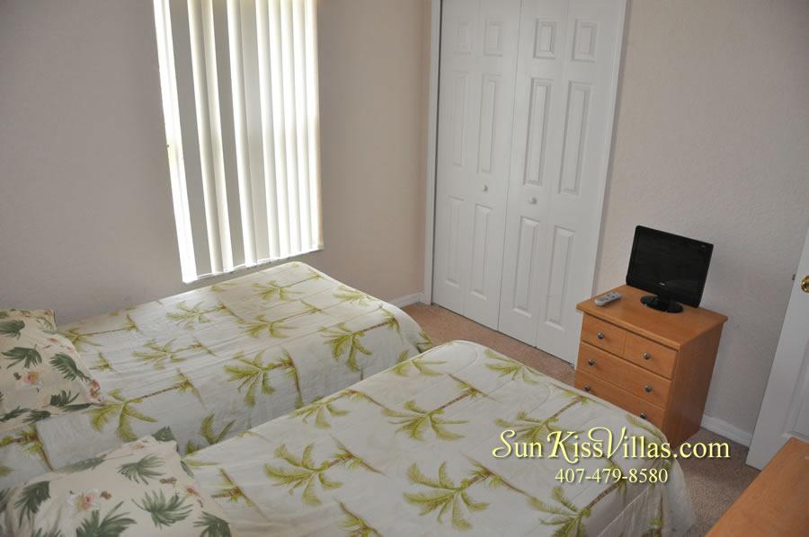 Disney Orlando Vacation Townhouse Rental - Quiet Cove - Twin Bedroom
