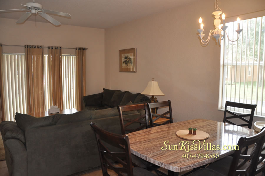 Disney Townhouse Vacation Rental - Sandy Creek - Dining and Family Room