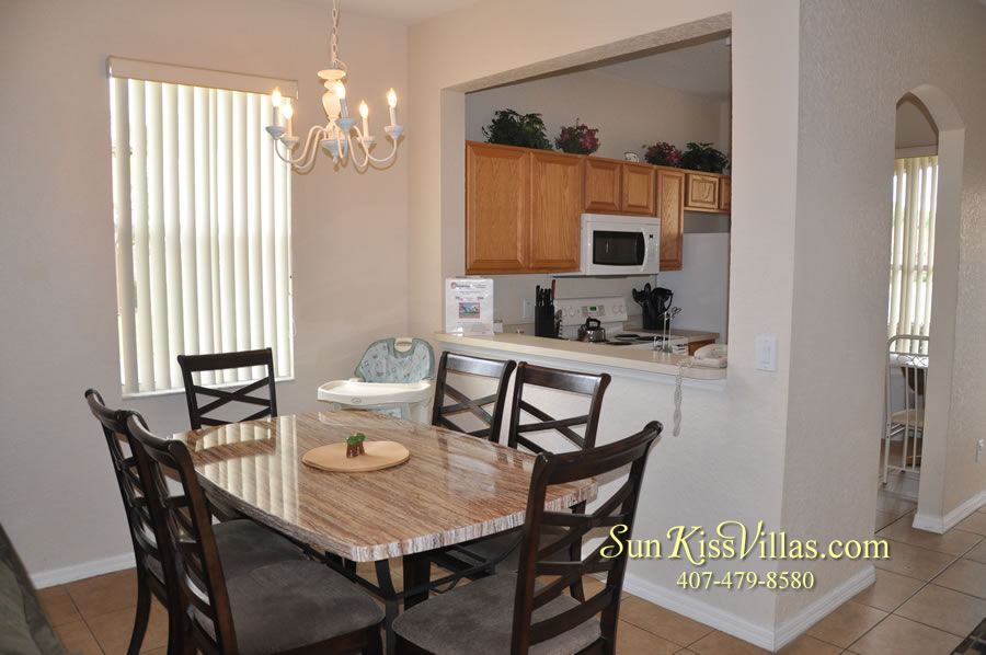 Disney Townhouse Vacation Rental - Sandy Creek - Dining and Kitchen
