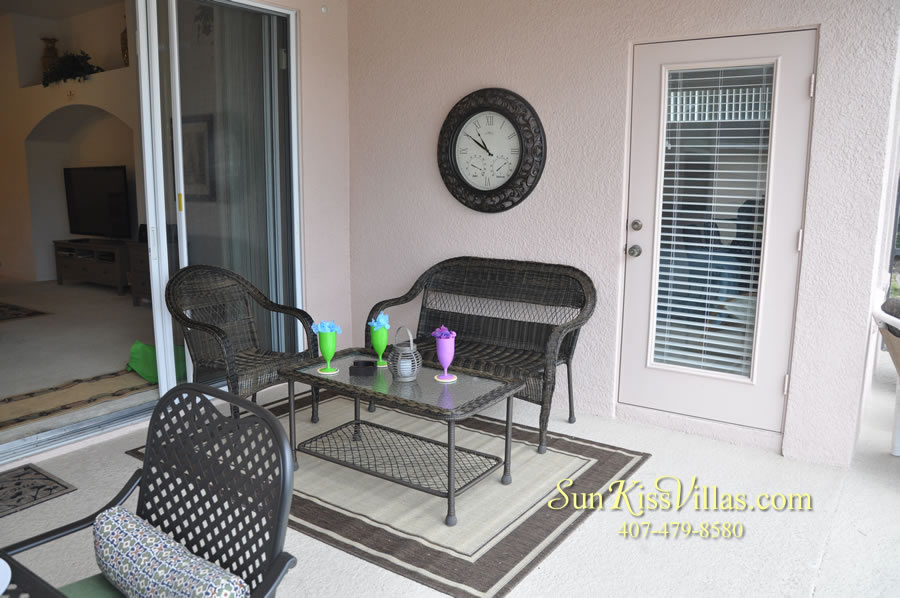 Vacation Home Rental Near Disney World - Sapphire Blue - Covered Lanai