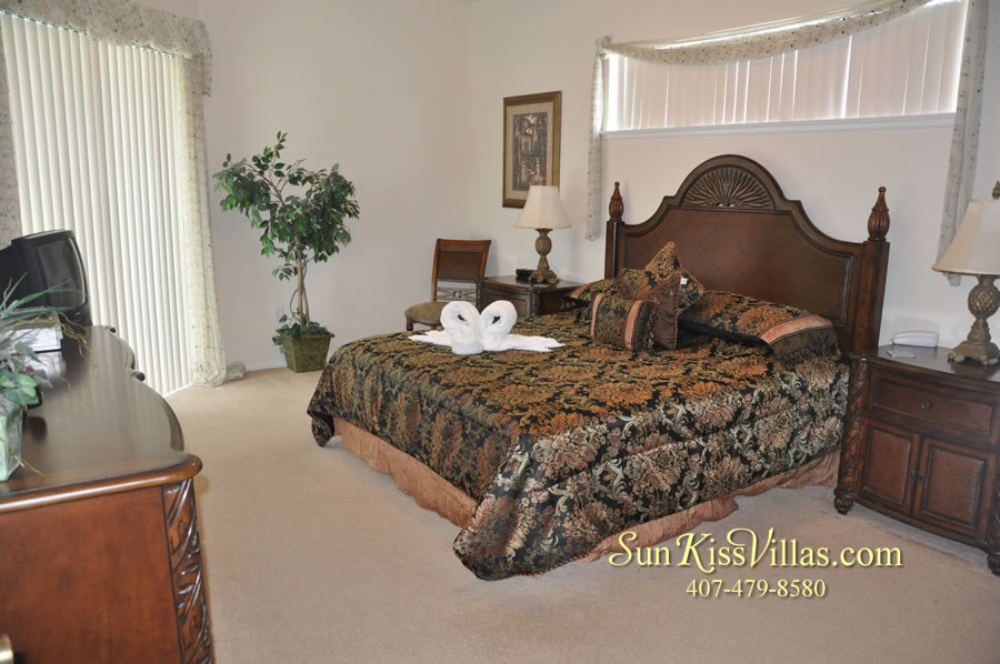 Disney Villa Rental - Heron Bay - Master Bedroom