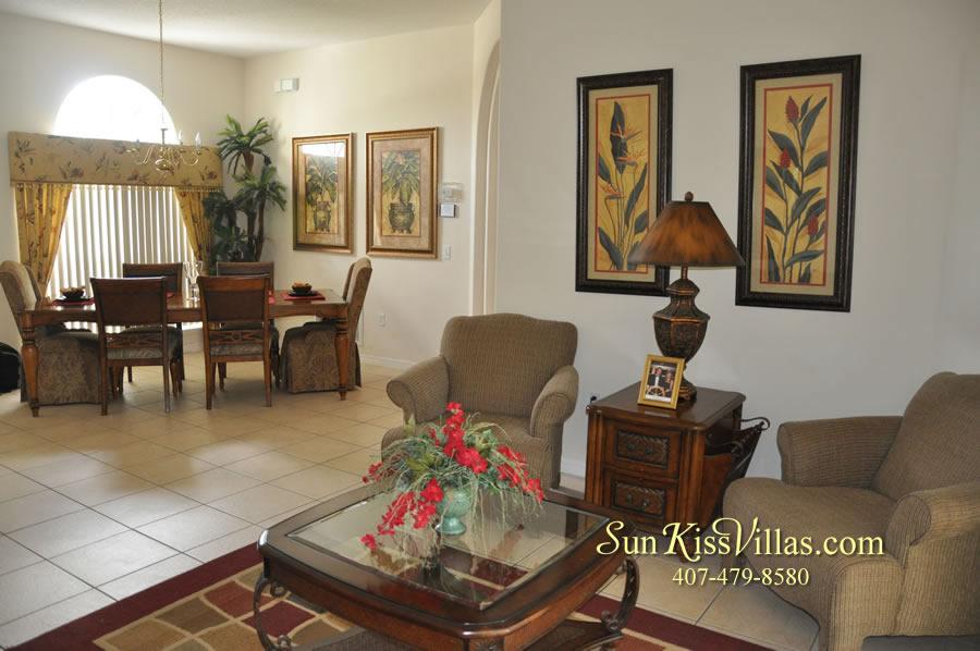 Disney Villa Rental - Heron Bay - Living and Dining