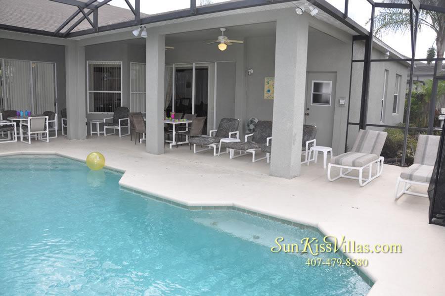 Disney Villa Rental - Heron Bay - Pool and Covered Lanai