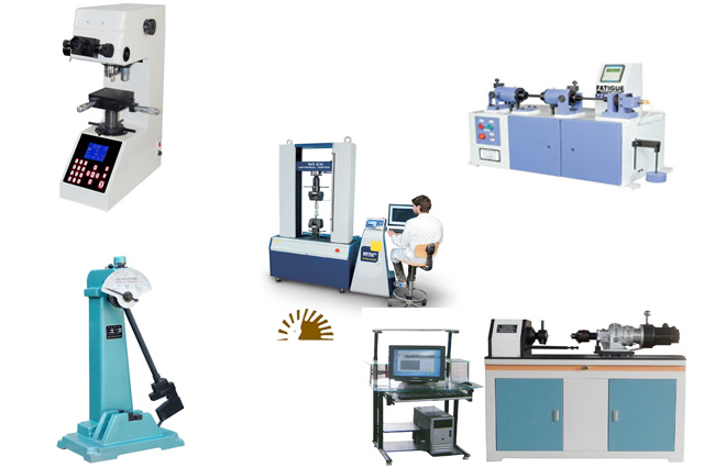 Steel testing lab equipment