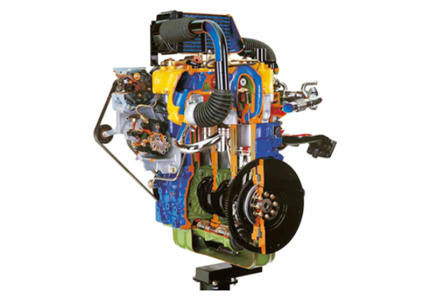 Cut Model Of Common Rail Turbo Diesel Engine