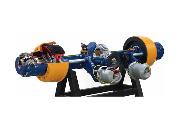 Cut Model Of Rear Axle With Locking Differential