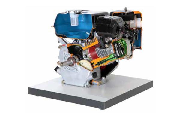 Cut Model Of Single Cylinder Four Stroke Petrol Engine