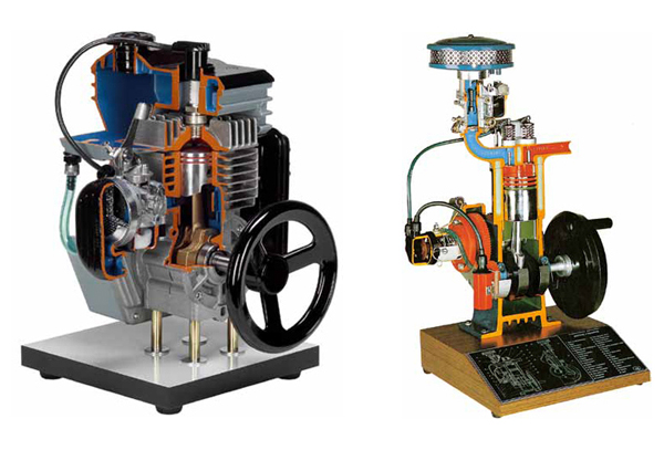 Section Model Of Two Stroke And Four Stroke Petrol Engine