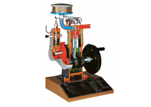 Section Model Of Four Stroke Diesel Engine