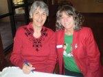 Thursday Flight leaders Sandra Hansen (left and Marcia Gaudioso (right)