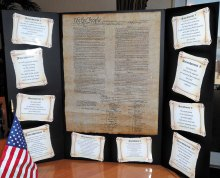 Poster of Constitution surrounded by Bill of Rights