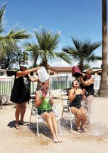 Betty Ulrich and Jane Hamner enjoyed