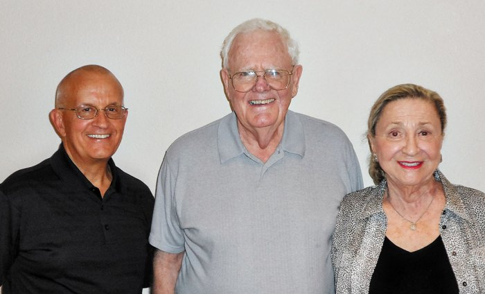 Pictured left to right are judges Bill Forrest, Dick Nelsen and Georgia Strisik.